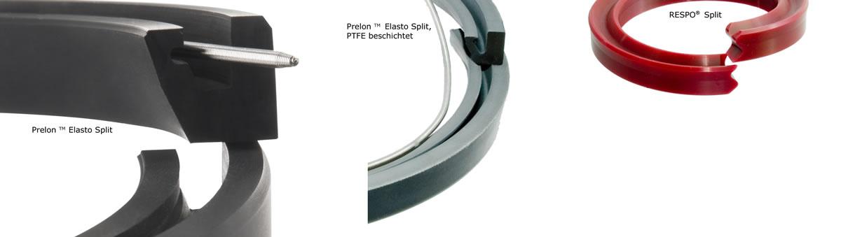 Es gibt drei Varianten von geteilten Wellendichtringe - Prelon Dichtsystem